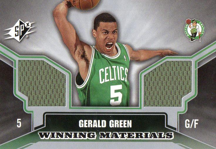 2005-06 Spx Gerald Green Winning Materials Dual Jersey Card Boston Celtics