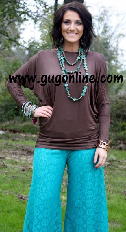A Spot To Snuggle Brown Slouchy Top www.gugonline.com