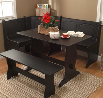 Corner kitchen table set: just the thing i need for my kitchen....perfect for small dining area and large family
