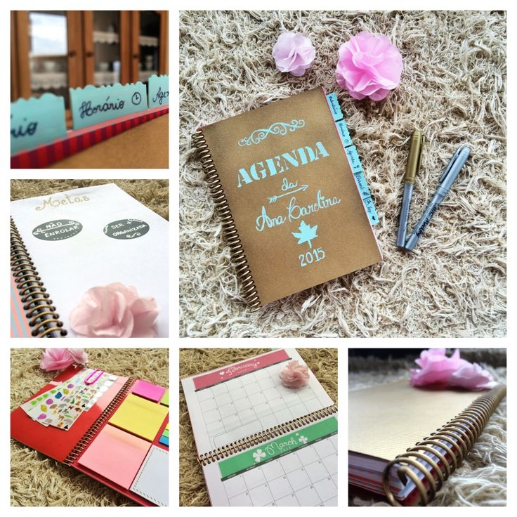 Crie sua agenda personalizada | Make your own personalized planner