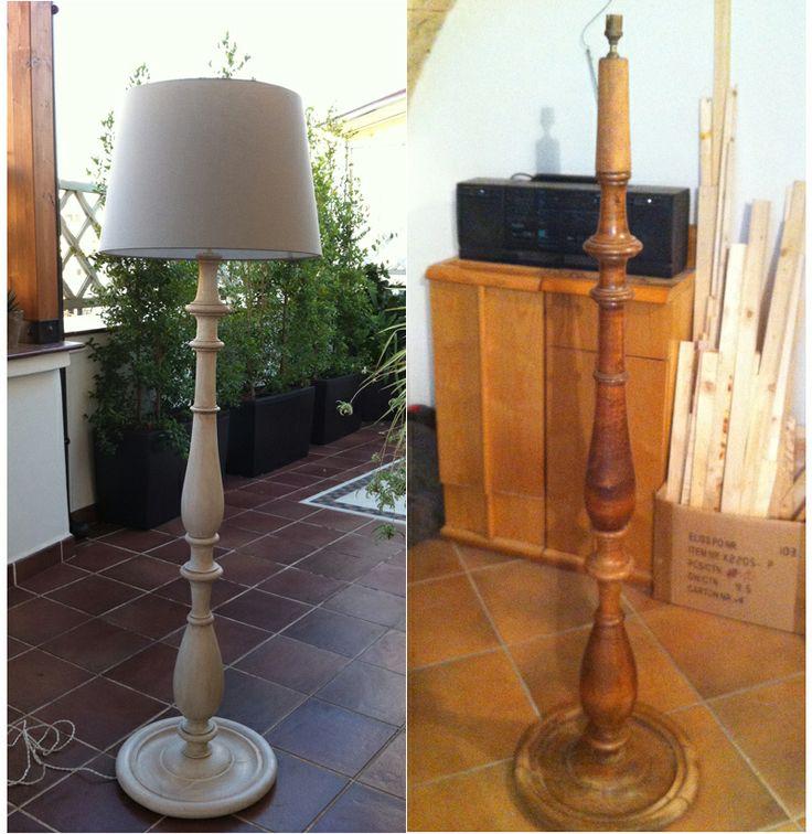 Restauro lampada anni 50 (Chalk Paint Finishing)
