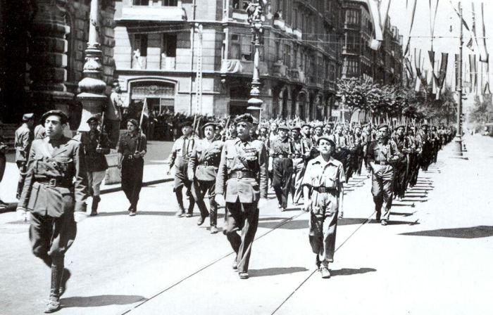 Entrada de las tropas nacionales en Santander