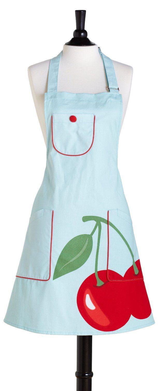 White ruffle apron amazon - Amazon Com Jessie Steele Bib Chef S Kitchen Cherry Apron Home Kitchen