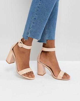 415a8c2b25a8 RAID Genna Patent Block Heeled Sandals in 2019