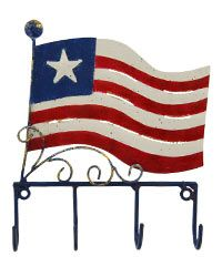 American Spirit Flag Key Hook at The Animal Rescue Site, $9.95