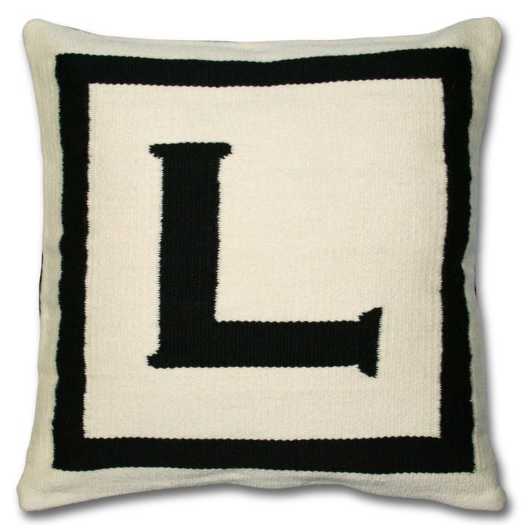 Throw Pillows With Letters : 18 best LETTER L / images on Pinterest Letter l, Letters and Alphabet