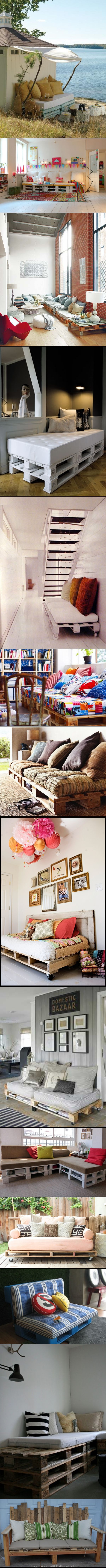 Home Decor DIY TOP-15 PALLET SOFA IDEAS, I know that it is not strictly gardening but these are amazing and if I was lucky enough to have a seaside patch I would be up to my armpits in pallets right now trying to make them….