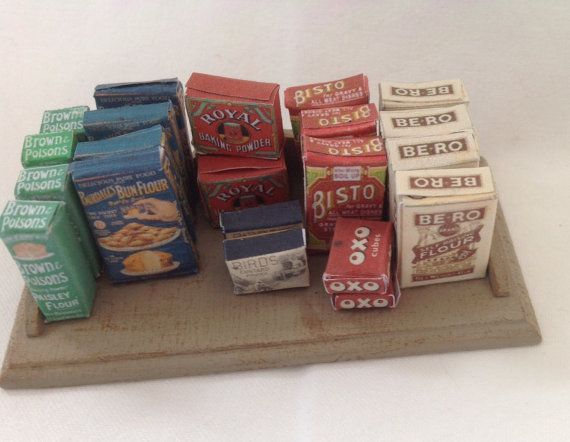 DOLLS HOUSE MINIATURES  Vintage counter by LittleHouseAtPriory