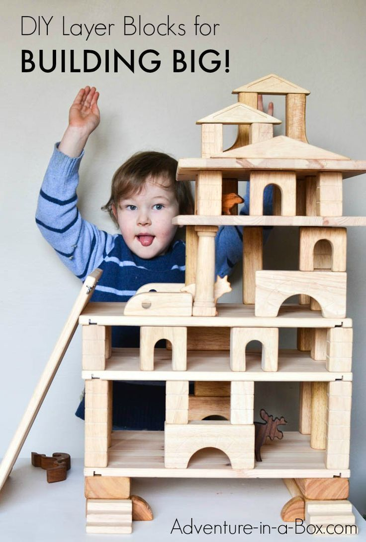 Child craft wooden blocks - Build Doll Houses Garages And Towers With Wooden Blocks