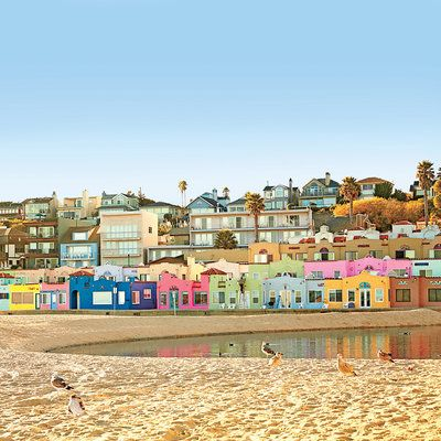 7. Capitola, California: Backed by rugged cliffs and with peaceful Soquel Creek running through its beachfront village, Capitola is California's oldest seaside resort town. Its streets are lined with colorful hotels and homes, and its wharf on Monterey Bay hums with activity. Coastalliving.com