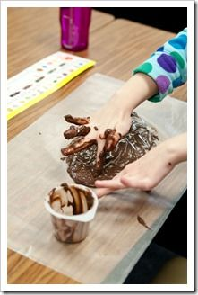 fine motor and pre-writing skills - try writing in chocolate pudding!