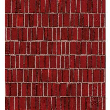 Bedrosians 12x13 Random Mosaic Rouge