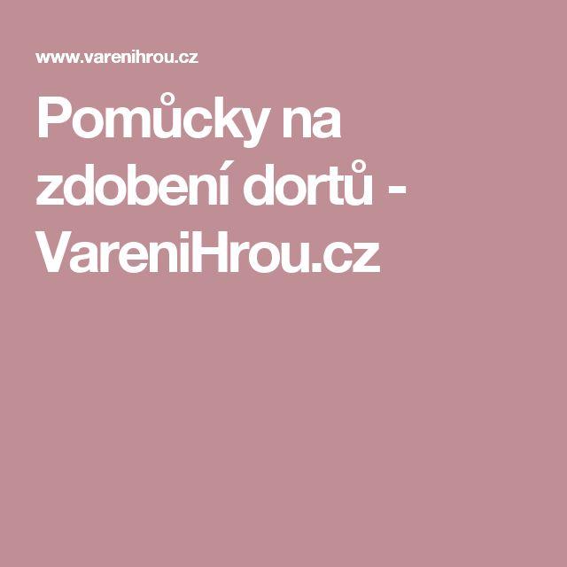 Pomůcky na zdobení dortů - VareniHrou.cz