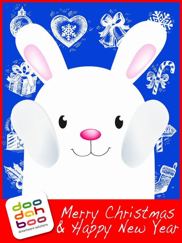 Rabbit Christmas Greetings Card