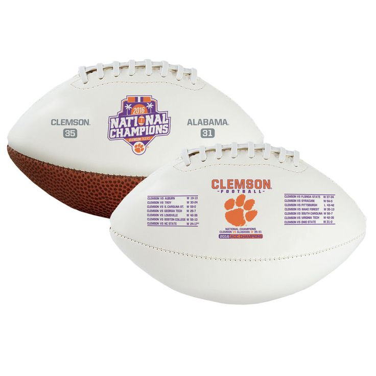 Clemson Tigers College Football Playoff 2016 National Champions Youth Size Football - White/Brown