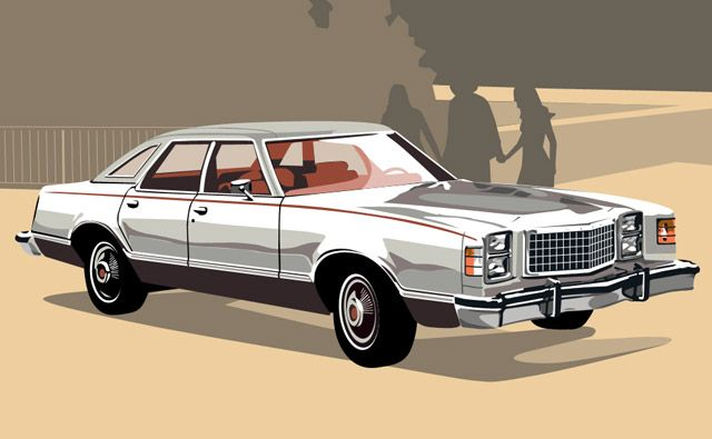 "Ford LTD II Brougham 1977, my Dad had these cars all through the 60's and '70's. This was the ""company car"" and he got a new one about every year and a half. This then became the Crown Vic."