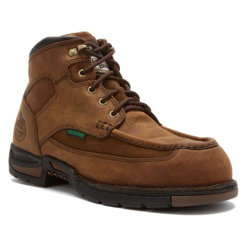 Georgia Boot Men's G7603 Athens 6' Moc-Toe Steel Toe Boot Brown Size 10.5 M