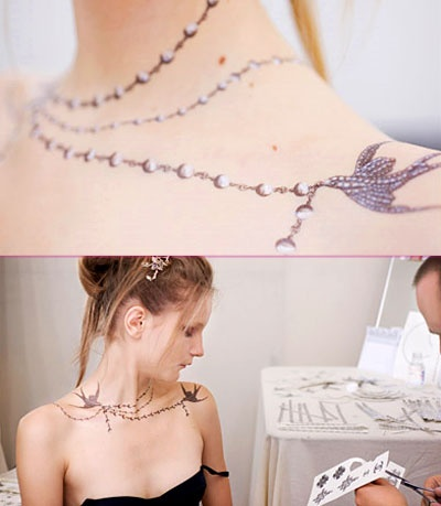 Chanel temp tattoo.  But, would love to have something similar around my wrist...
