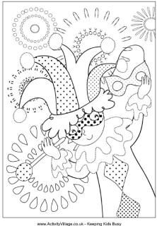 Mardis Gras Coloring   These are perfect for the kids to get involved at the Mardi Gras party!