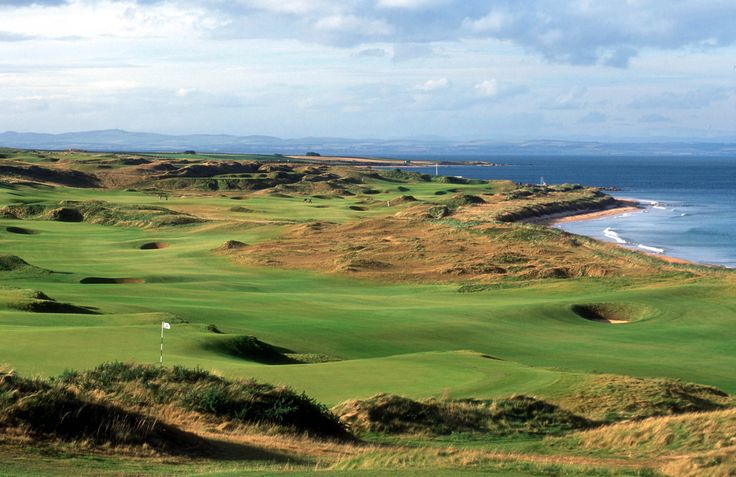Golf course in Scotland, Kingsbarns. Golfbaan in Schotland.