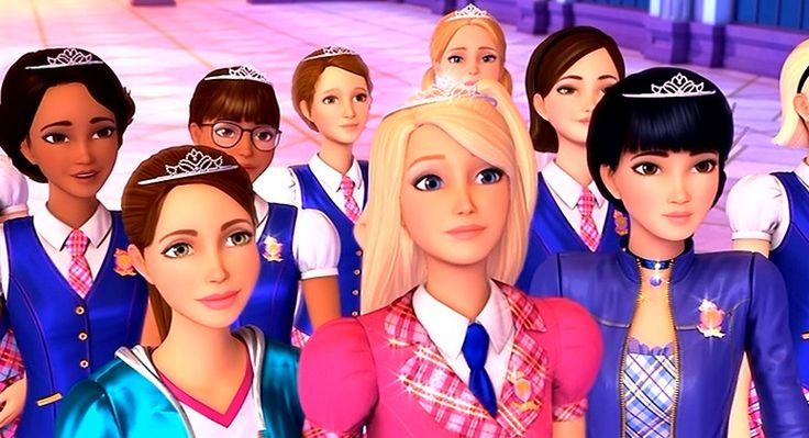 Barbie Princess Charm School Looking fly in the new uniforms