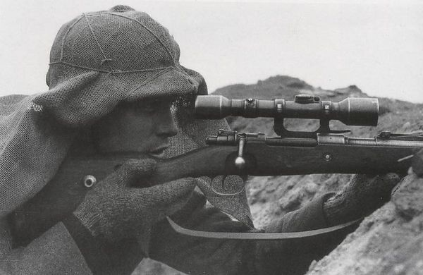 Matthäus Hetzenauer (1924 - 2004), Austrian sniper of the 3rd Mountain Division.