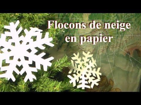 Fabriquer un flocon de neige en papier | Bricolage de Noël avec les enfants - YouTube
