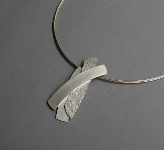 Textured Silver Pendant on http://kevingrey.co.uk/jewellery-gallery/