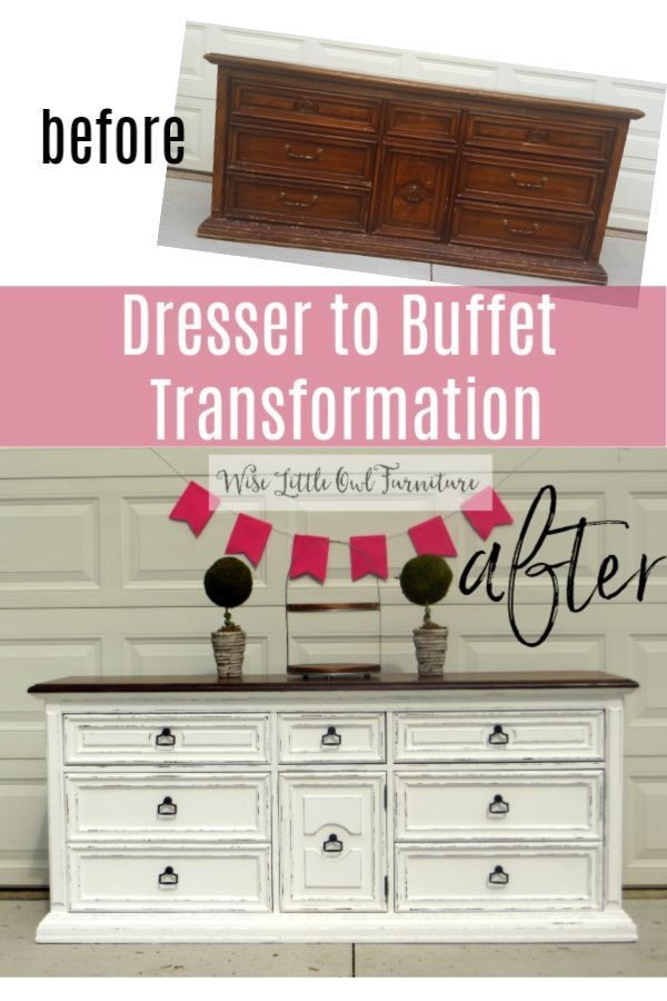 Click To Learn How You Can Transform Any Piece Of Old Dated Furniture To Fresh Modern Fa Bedroom Furniture Makeover Dresser To Buffet Painted Bedroom Furniture
