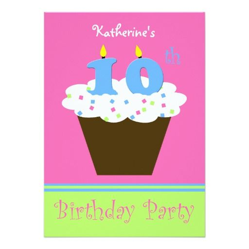 Best 441 candle birthday invitations images on pinterest birthday 10th birthday party invitation 10 candles filmwisefo