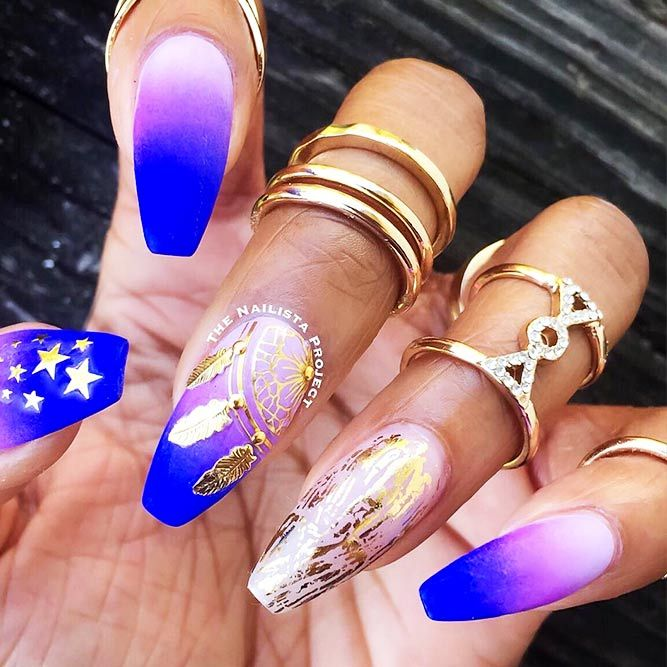 21 Terrific Designs Done with Gel Nail Polish To Try This Season ★ Gel Nails with Foil Nail Designs Picture 1 ★ See more: http://glaminati.com/gel-nail-polish/ #gelnailpolish #gelnails