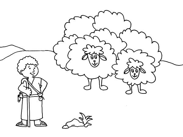 David The Shepherd Boy Cartoon David The Shepherd Boy Coloring Pages Coloring Pages For Boys Coloring Pages Detailed Coloring Pages