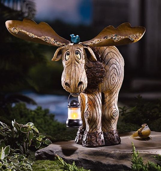 Image Detail For  Moose Bird Feeder And Lantern   Moose Decor