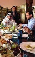 Abdel Hakim Belhadj, CIA Asset, Ibadi Berber Al Qaeda, founder of Daesh/ISIS in Libya - Leader of Misrata Militias Libya Dawn, meets with Sheik of Qatar in Tunisia 2014