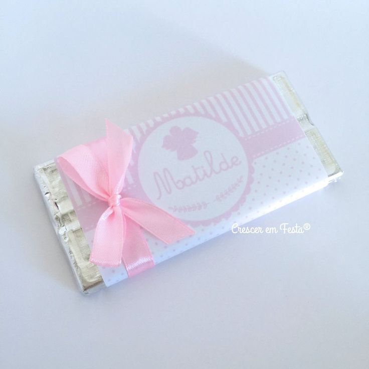 Chocolates Personalizados Anjinho Rosa