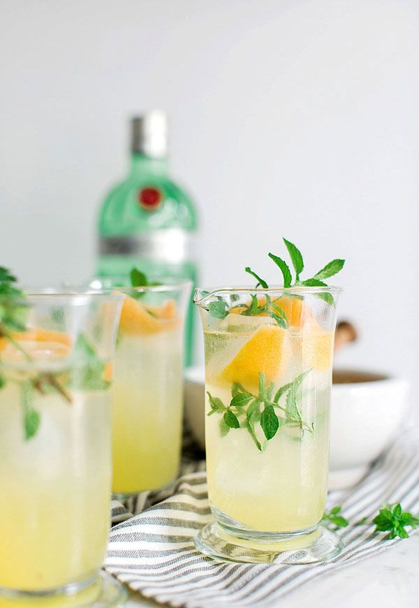 Gin Punch recipe via Waiting on Martha