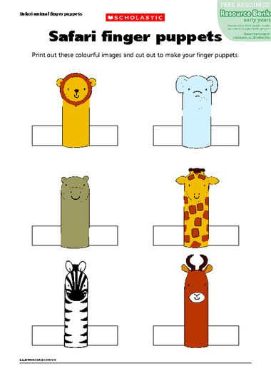 Print out these colourful images and cut out to make your finger puppets and create your own stories and puppet shows. Description from pinterest.com. I searched for this on bing.com/images