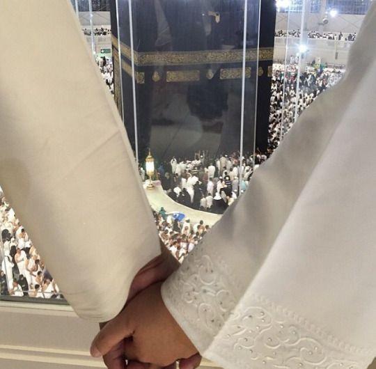 Holding hands at Masjid Al-Haram