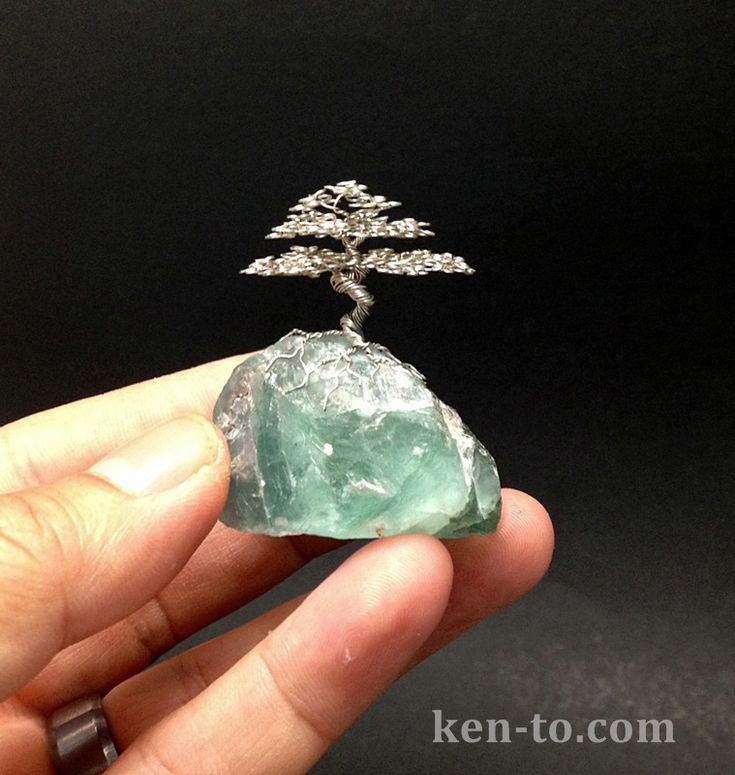 Micro root on rock wire bonsai tree by Ken To by KenToArt.deviantart.com on @deviantART