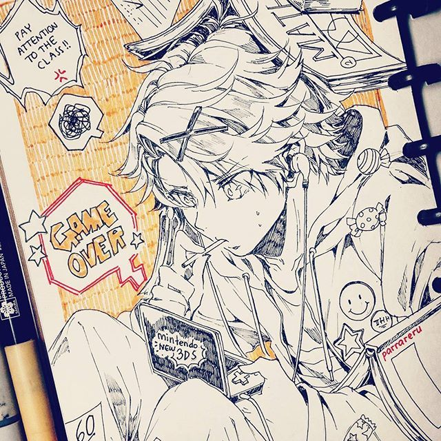 MM x school!AU  yoosung with school uniform~ my headcanon he's in the same class as seven lol Aah as expected i cant draw everyday;; i only can draw in between my work as stress reliever T_TT  #inktober #inktober2016 #mysticmessenger #yoosungkim