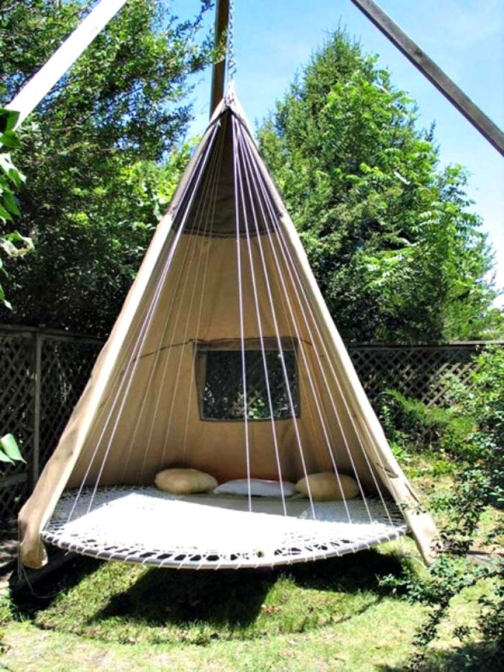 A Tee-Pee/Tampoline/Daybed Hybrid