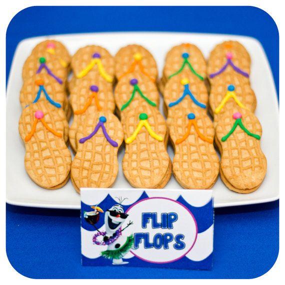 Girly Olaf Summer Food Labels Girly Olaf by KraftsbyKaleigh