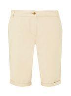 Womens Stone Knee Length Chino Shorts- Beige