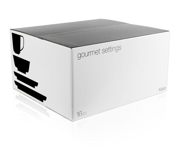 Gourmet Settings, Høverkraft Dinnerware Box by Monnet Design, great white simple box