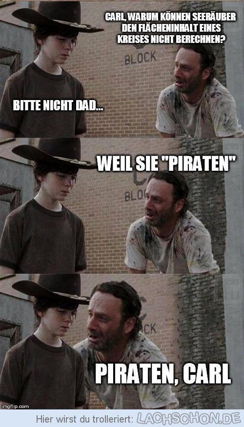 Piraten - piraten, walking dead, carl, witz, pi, rick, kreis