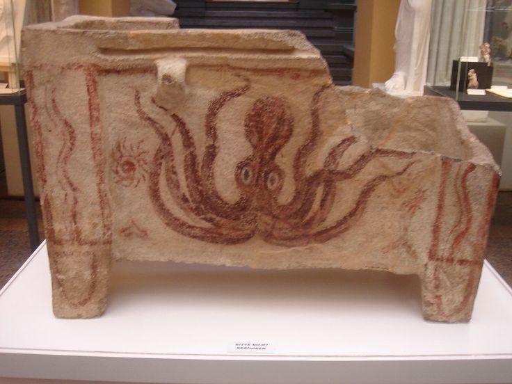 Minoische Meeresstil-Larnax 1 - Civilização Minoica – Wikipédia, a enciclopédia livre