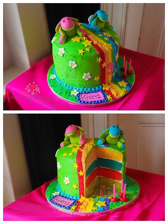 Rainbow Lollos and Lettie Cake