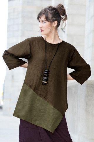 Short Kimono Jacket in Thyme/Aubergine Roma   SHONMODERN.COM