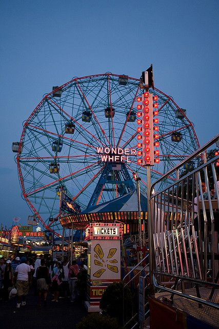 Coney island is our favorite spot in NYC.  Beach, great food, cool shops and lots and lots of RIDES!