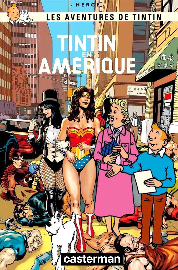 Les Aventures de Tintin - Album Imaginaire - Tintin en Amérique